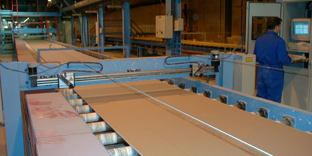 Plasterboard Measurement with Scanning Laser Gauges