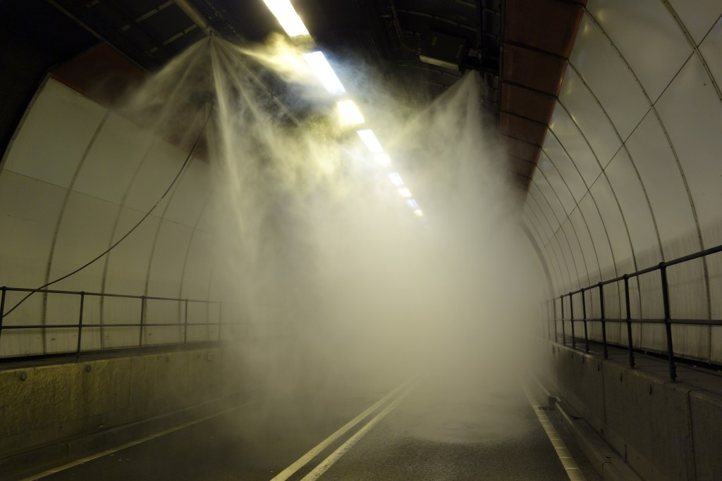 Dartford Tunnels Fixed Fire Fighting System Applied
